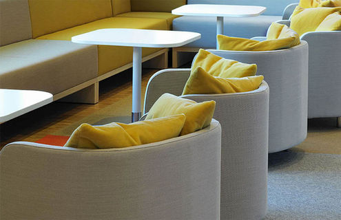 Kvadrat textiles are used for a variety of purposes throughout the premises of Vattenfall HQ.
