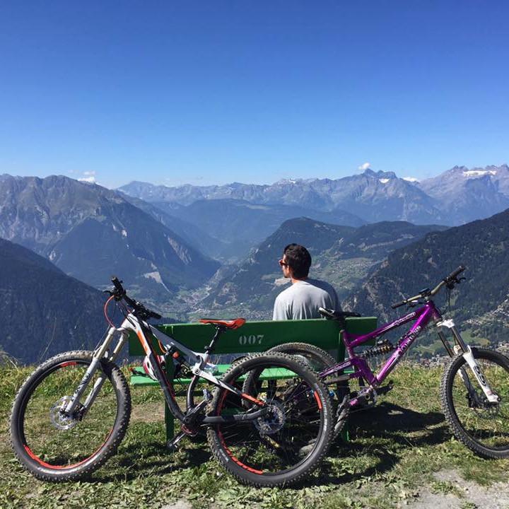 Chris enjoying the panoramic views in Verbier!