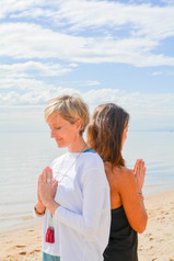 Namaste from Lisa & Sally