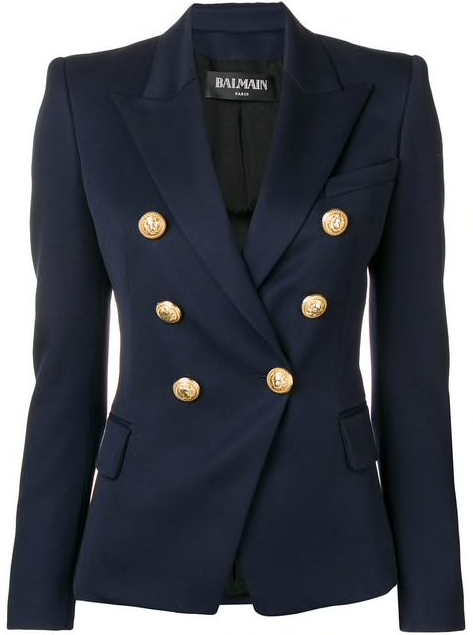 Navy Classic Double Breasted 6 Button Blazer
