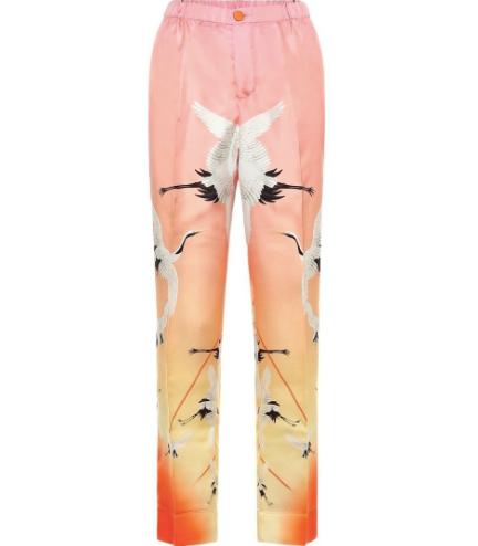 Etere Printed Silk Pyjama Pant
