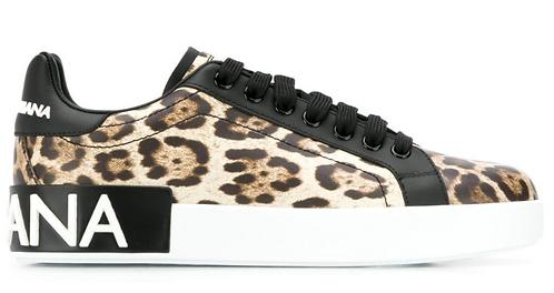 Leopard Print Portofino Lace Up Runner