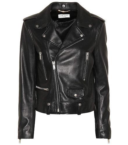 Black Classic Leather Biker Jacket