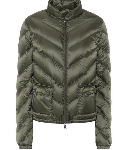 Dark Green 'Lanx' Quilted Down Jacket
