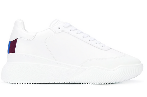 White Loop Lace Up Sneaker