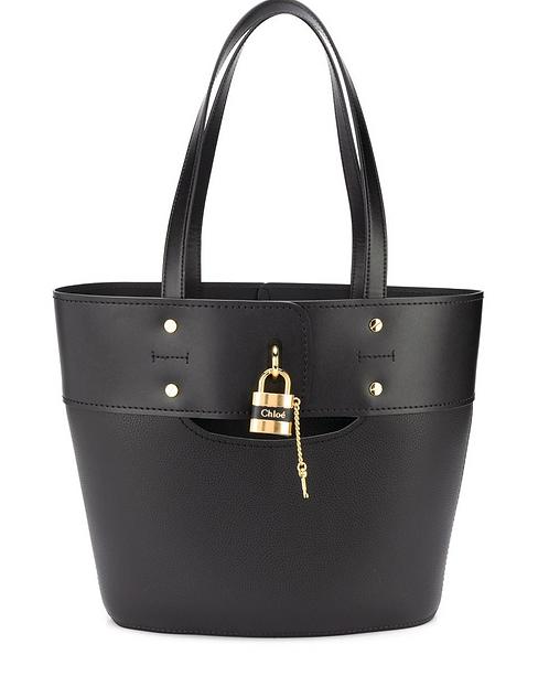 Black 'Aby' Large Key Tote Bag