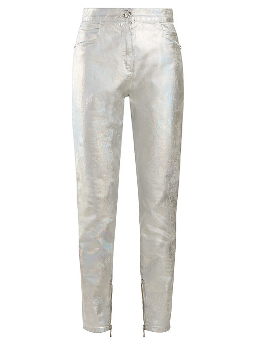 Silver Coated High Waisted Jeans