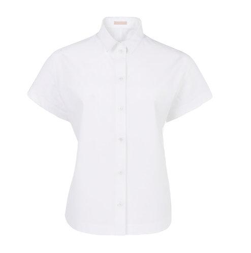White Short Sleeve Japanese Poplin Shirt