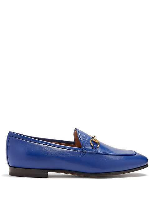 Electric Blue Leather Horsebit Classic Loafer