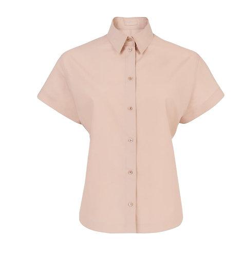 Powder Pink Short Sleeve Japanese Poplin Shirt