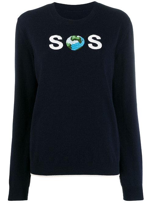 Navy 'SOS' Knit Jumper