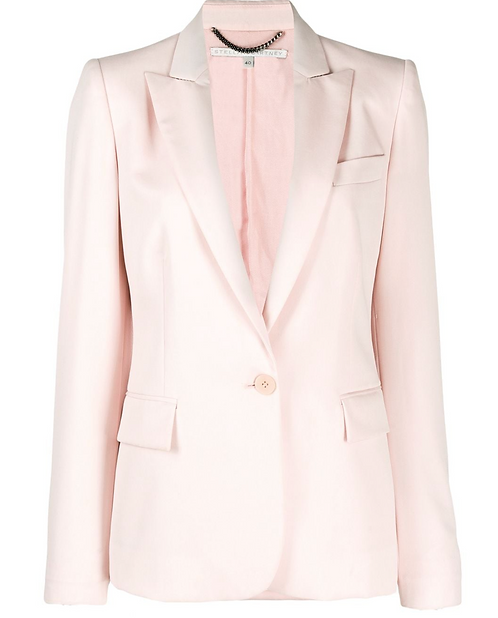 Tea Rose Pink Single Button Blazer
