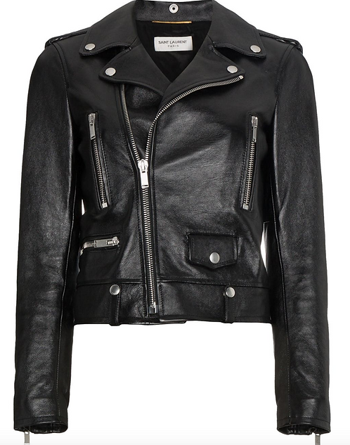 Black Classic Carry Over Biker Jacket