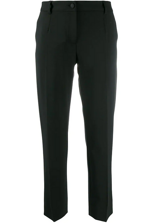 Black Tailored Cropped Pant