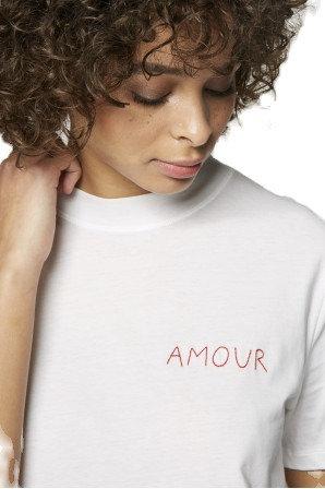 White 'Amour' Oversized T-Shirt