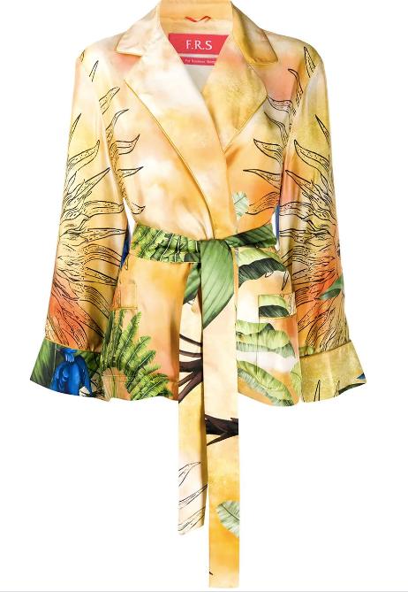 Giocasta Printed Silk Pyjama Jacket