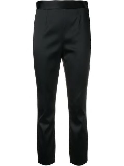 Black Classic Tailored Straight Leg Pant