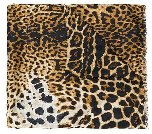 Leopard Print Large Rectangle Modal Scarf