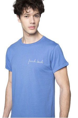 Blue 'French Touch' Classic T-Shirt
