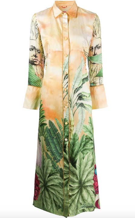 Jungle Print Multicolour Shirt Dress