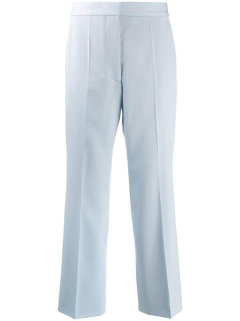 Dream Blue Wool Tailored Flare Pant