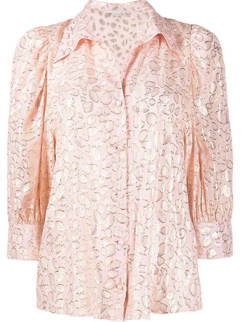Pale Pink Lurex Blouse