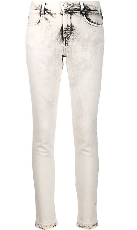 Smokey White Acid Wash Skinny Jean