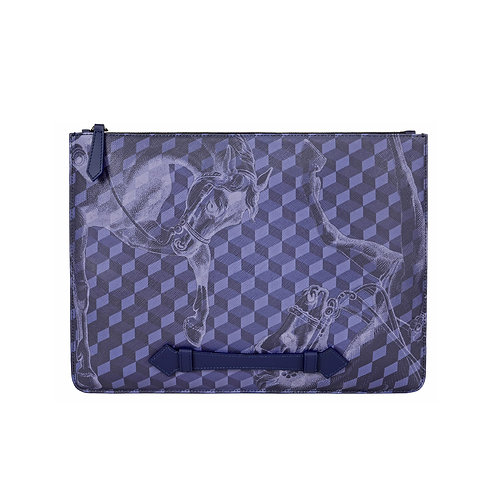 Navy Large Cheval Maxi Pouch