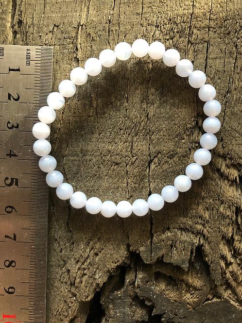 Agat blonde armbånd 6 mm. perler