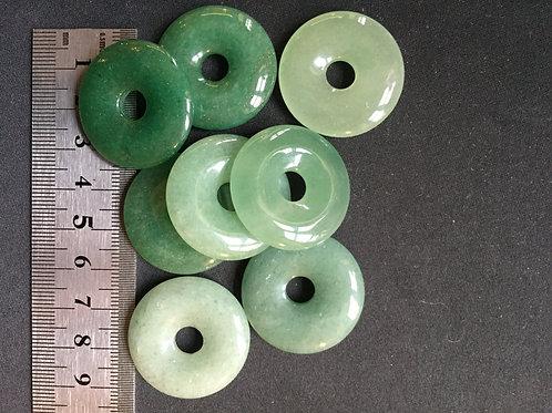 Aventurin grøn donut 3 cm.