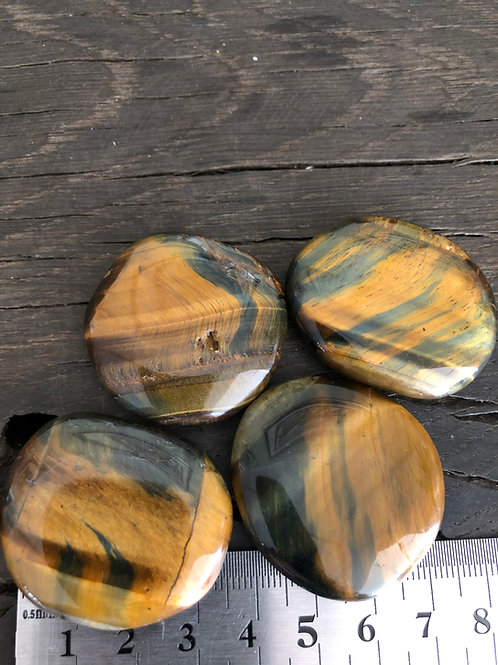 Tigerøje og Falkeøje i én, chakra sten ca. 20-25 gr.