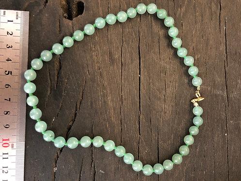 Aventurin grøn halskæde ca. 45 cm. 8 mm. perler