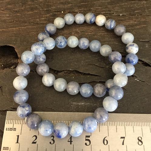 Kvarts blå armbånd ca. 23 gr.
