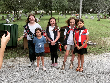 American Heritage Girls troop assisted post with flag retirement ceremony