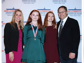 Post candidate wins 2020-2021 Texas VFW Patriots Pen Award
