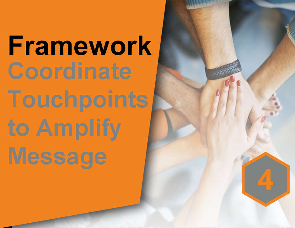 4. Coordinate all touchpoints to amplify effectiveness and reduce tangent journeys