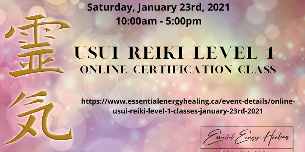 ONLINE USUI REIKI LEVEL 1 CLASSES - January 23rd, 2021