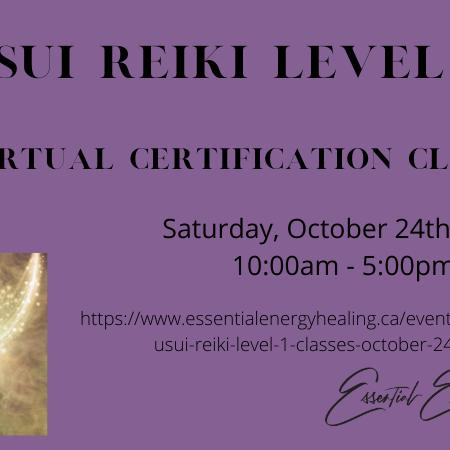 VIRTUAL USUI REIKI LEVEL 1 CLASSES October 24, 2020