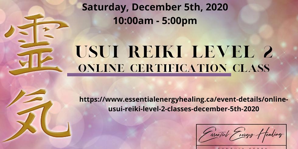 ONLINE USUI REIKI LEVEL 2 CLASSES - December 5th, 2020