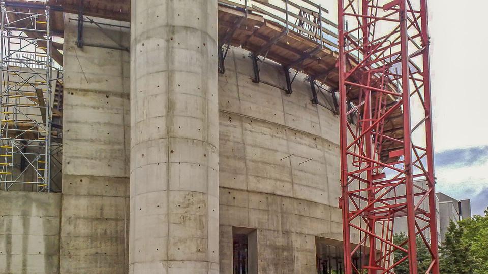 Kuppel in Bauphase