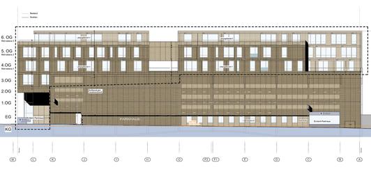 Architektenplan. Ansicht