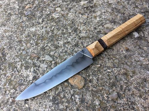 Couteau de cuisine utilitaire, C130, érable ondé et bouleau stabilisés