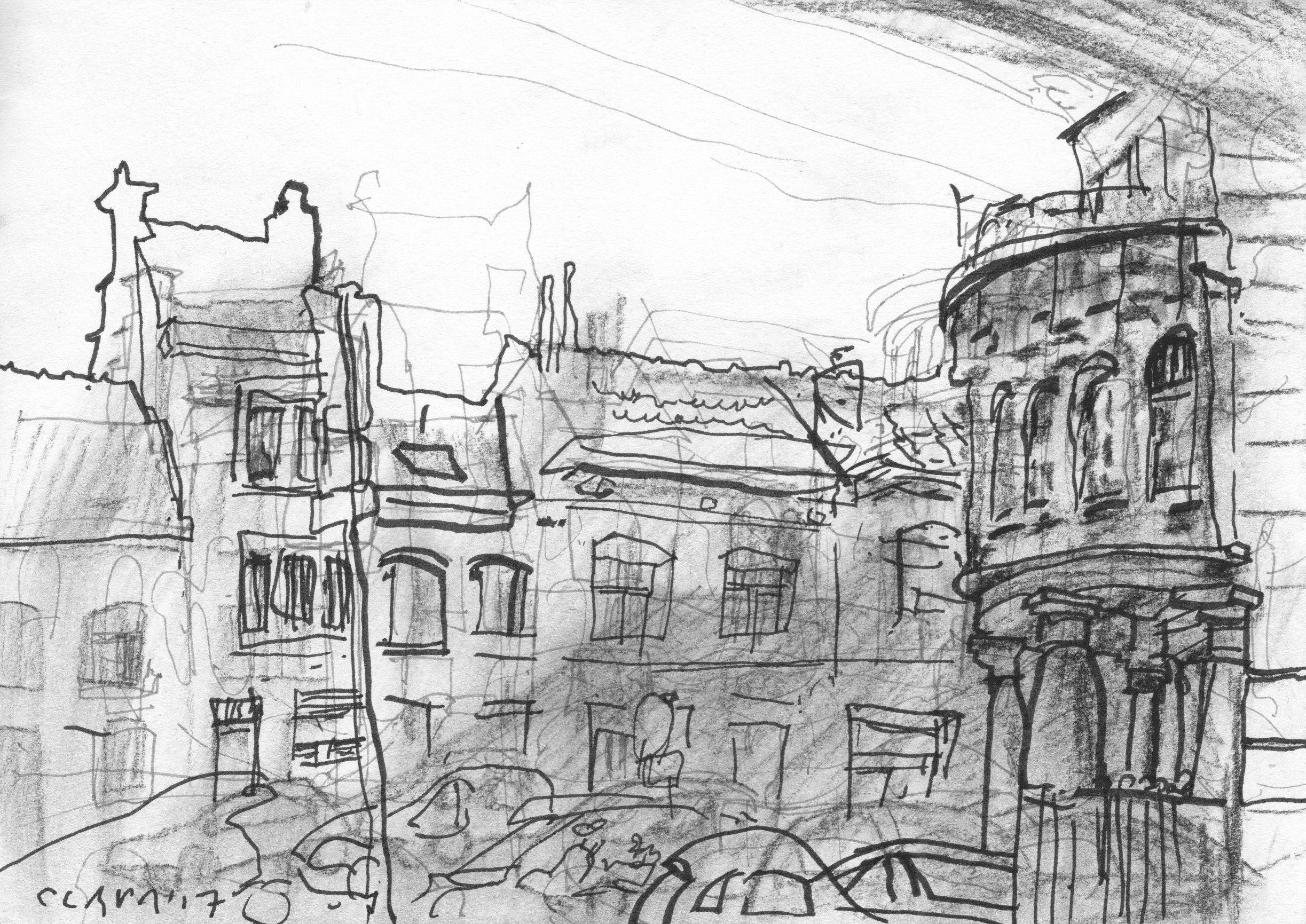 stadstekeningen-2017-Rue d Artiste