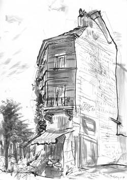 Stadstekeningen-2017 brussel-Rue Bocksta