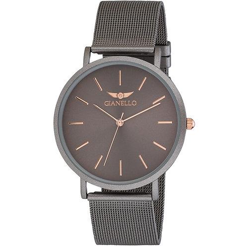Gianello GNL7722 Stainless Steel Slim Case Mesh Bracelet Watch