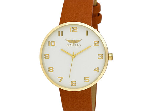 Gianello Mens Round Case Milan Strap Watch