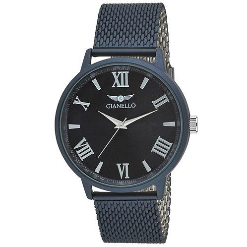 Gianello Mens GNL7710 Mesh 42mm Tachymeter Bezel Watch