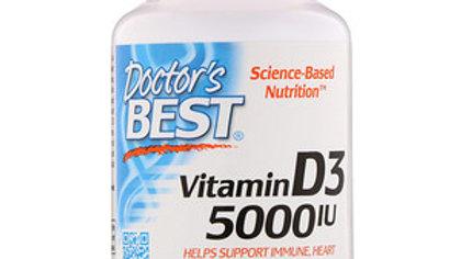 Doctor's Best, Витамин D3, 125 мг (5000 МЕ),