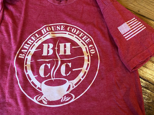BHCC T-Shirt (Monochromatic) with American Flag