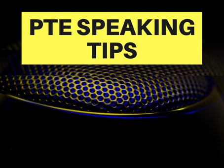PTE Speaking Tips